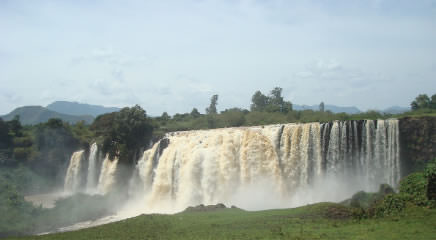 Panoramic view of the Blue Nile Falls