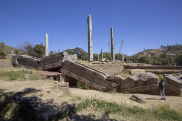 The granite obelisks of Axum are evidence of the greatness of the Ancient Ethiopian civilization. The fallen obelisk is the single largest piece of rock ever carved by a human being.